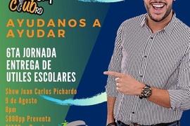Juan Carlos Pichardo con show pro recaudación