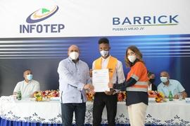 INFOTEP y Barrick forman 25 nuevos técnicos en mecánica industrial bajo el Programa de Formación Dual